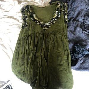 Green babydoll dress
